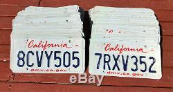 100 California License Plates Craft/Road Kill Condition