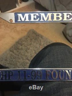 11-99 Foundation License Plate CHP California Highway Patrol Plate Frame