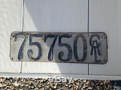 1912 California antique collectable license plate