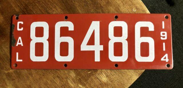1914 California License Plate
