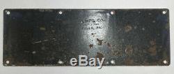 1914 California Porcelain License Plate # 21076