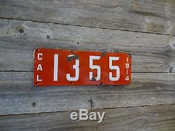 1914 California license plate Awesome Original low digit license plate!