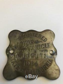 1914 and 1915 California Automobile License