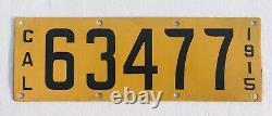 1915 California Porcelain License Plate. Excellent Condition