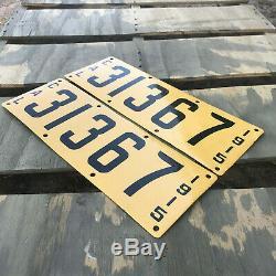 1915 California license plate pair 31367 YOM DMV clear Ford Model T porcelain