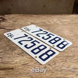 1916 California license plate pair 72588 YOM DMV clear Ford Model T Cadillac