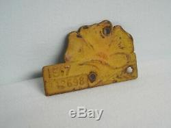 1917 California License Plate Owners Poppy Tag / Tab