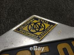 1920-28 California Automobile Association AAA License Plate Frame and 1928 plate