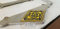 1920's California AAA License Plate Frames Pair for Hot Rat Street Rod Trog SCTA
