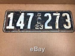 1923 DMV Clear Rarepair (california)(147-273)car License Plate-vintage-original