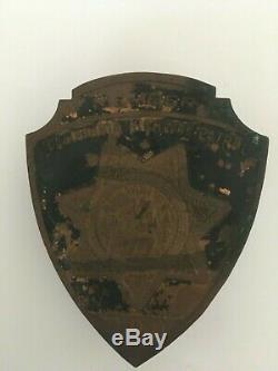 1929 California State Police License Plate Radiator Badge Highway Patrol Trooper