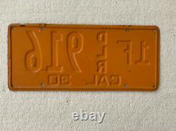 1930 California Dealer License Plate-original 1F DLR 916