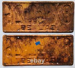 1930 California License Plates Pair. DMV Clear. Original