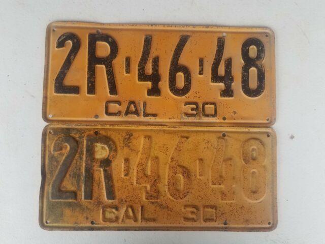 1930 Pair California License Plates Dmv Yom Clear