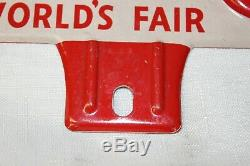 1930s Mobil Oil Pegasus California World's Fair License Plate Topper