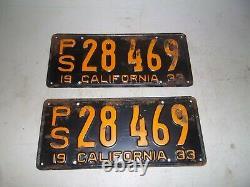 1933 California license plates