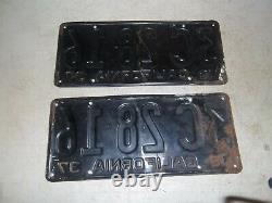1937 California license plate set