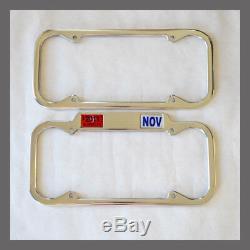 1940 1955 California License Plate Frames Pair CA YOM DMV Stickers Aluminum