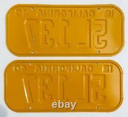 1940 California License Plates Pair DMV Clear Rare 5 Digit Restored