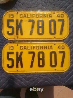 1940 california license plates DMV Clear