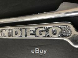 1940s 1950s San Diego California License Plate Frame Pair