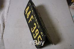 1941 California Car license Plate pair DMV CLEAR RESTORED OLD TAG # 44 F 395