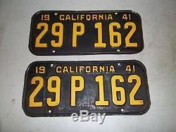 1941 California license plate set