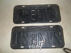1942 California license Plates