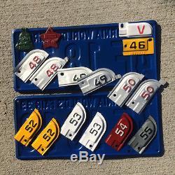 1942 California license plate pair 2E 64 34 YOM DMV clear Ford Chevy Cadillac