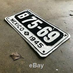 1945 Baja California Mexico license plate B 75-69