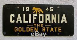 1945 California Fiberboard Booster License Plate, Quite Rare