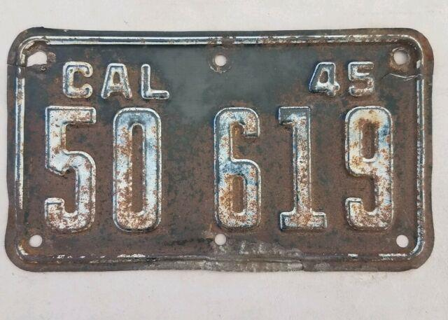 1945 California Motorcycle License Plate