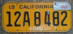 1947 1948 California License Plate