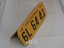 1947 1950 California License Plate Pair, Car DMV Clear Restored 6l 64 41