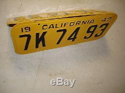 1947-48-49-50 California CAR license Plate pair DMV OK NEW PAINT