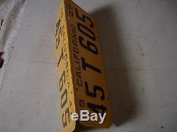1947-48-49-50 California CAR license Plate pair DMV OK NEW PAINT free tab