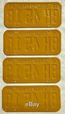 1947-50 California License Plates Pair, DMV Clear, Consecutive Sets Restored