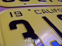 1947 CALIFORNIA CA CAR LICENSE PLATE PAIR - PERFECT REPLICA - NEW SET of 2