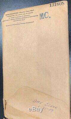 1947 CALIFORNIA MOTORCYCLE LICENSE PLATE In Original DMV Envelope