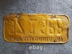 1947 California License Plate Pair with metal registration tags 48 50