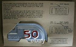 1947 California Unused Trailer License Plate with 50 tab