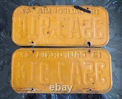 1947 California license plate pair DMV CLEAR