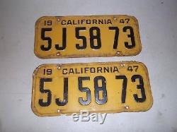 1947 California license plate set