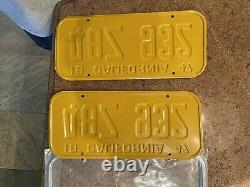 1947 California license plates NEVER ISSUED. DMV clear