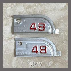1948 Original California YOM DMV Car Truck License Plate Metal Tags Pair 1947