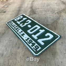 1949 Baja California Mexico license plate B-13012 TN territory
