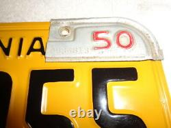 1950 ONLY California car license Plate PAIR, RESTORED DMV CLEAR with release