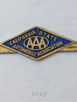 1950's California State Automobile Association Pair License Plate Frames