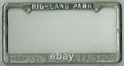 1950's Highland Park California Angelus Chevrolet Vintage GM License Plate Frame