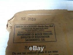 1951-52-53-54-55 California license Plate pair ORIGINAL RARE MINT